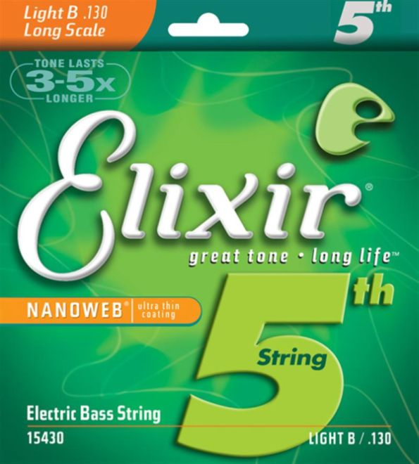 Elixir Steel NANOWEB Bass 15430 Light, Long Scale B 130