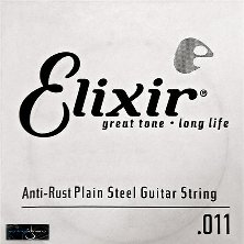 Elixir 011 Single String Plain Steel